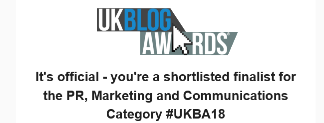 Digital Marketing Blog with Carmen Lascu – UK Blog Awards 2018 Finalist